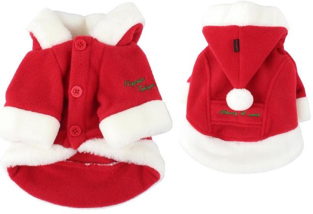 Паппи Куртка с капюшоном новогодняя Santa, в ассортименте, красная, Puppia