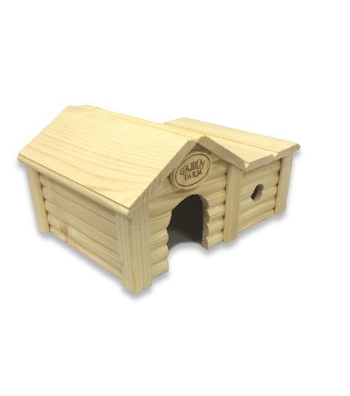 Грин Фарм Дом с пристройкой для мелких грызунов 17*23*12 см, Green Farm