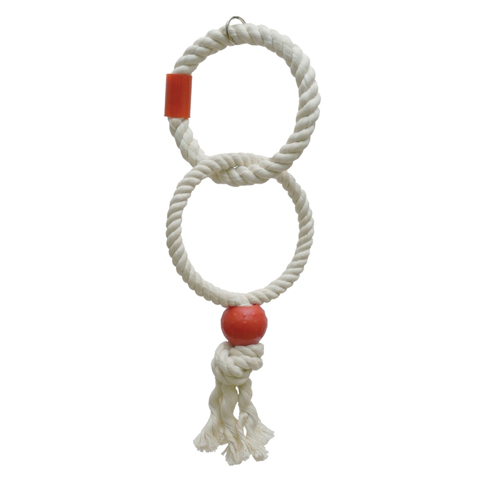 Роузвуд Кольцо для птиц двойное бело-красное 47 см, Rosewood