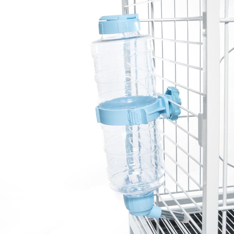 Триол Автопоилка навесная Аква на клетку/переноску для животных, 900 мл, голубая, Triol