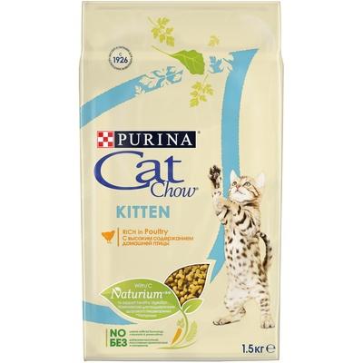 Кэт Чау Корм Kitten для котят Курица, в ассортименте ,Cat Chow Purina