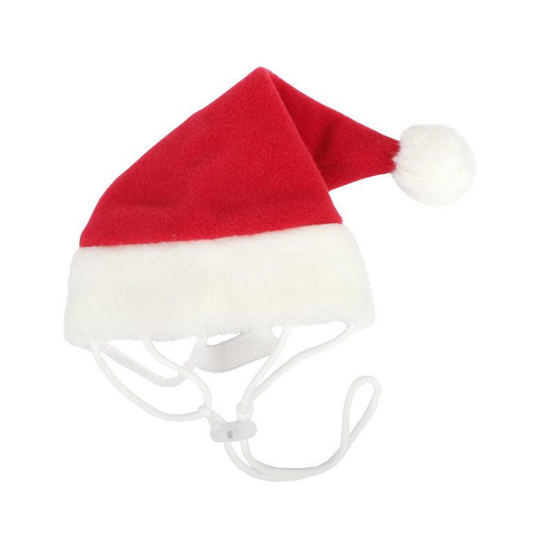 Паппи Колпак новогодний Santa для собак и кошек, в ассортименте, красный, PUPPIA