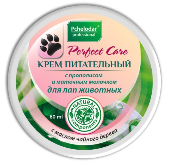 Пчелодар Крем питательный для лап животных с прополисом и маточным молочком, 60 мл