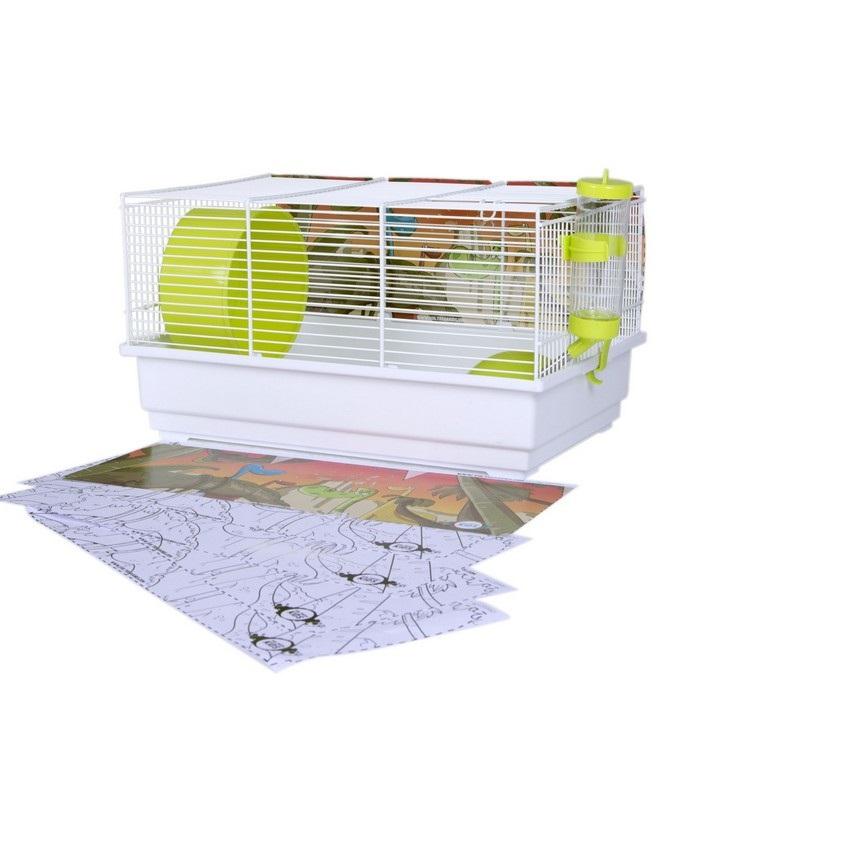 Вольтрега Клетка с раскраской Дино для мелких грызунов, 39*22*25,5 см, Voltrega