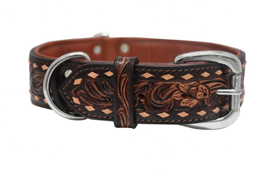 Энджел Ошейник для собак Tucson, коричневый, натуральная кожа, в ассортименте, Angel