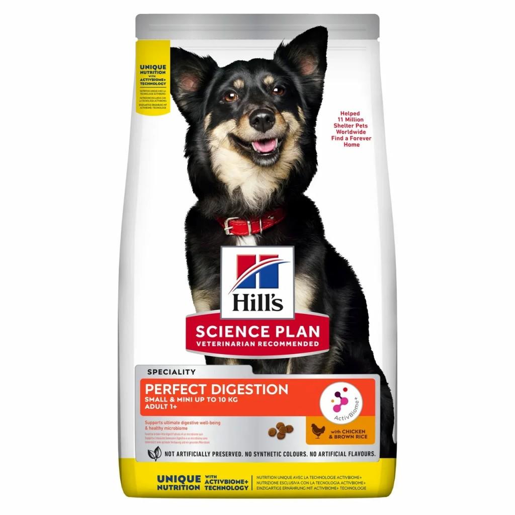 Хиллс Корм Science Plan Perfect Digestion для собак мелких пород для поддержания баланса пищеварения, Курица/Коричневый рис, в ассортименте, Hills