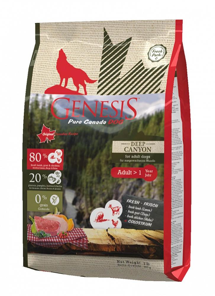 Генезис Корм Pure Canada Deep Canyon (Глубокий Каньон) для собак, Курица/Ягненок/Коза, в ассортименте, Genesis
