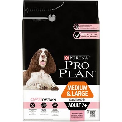 Корм Про План Senior Sensitive Skin 7+ для собак средних и крупных пород старше 7 лет с чувствительной кожей, Лосось, в ассортименте, Pro Plan