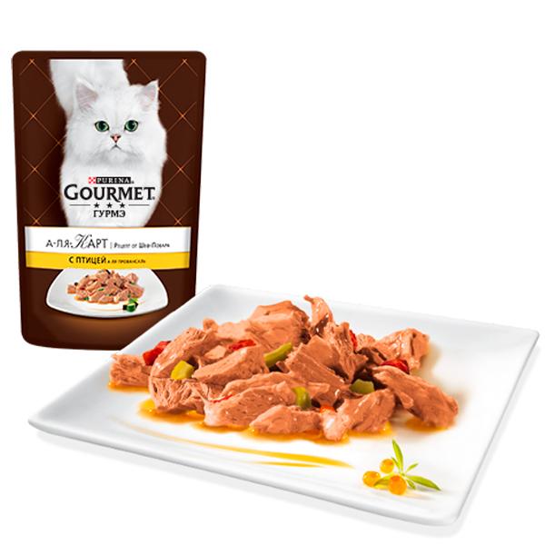Паучи Gourmet A la Carte для кошек, 24*85 г, в ассортименте, Gourmet