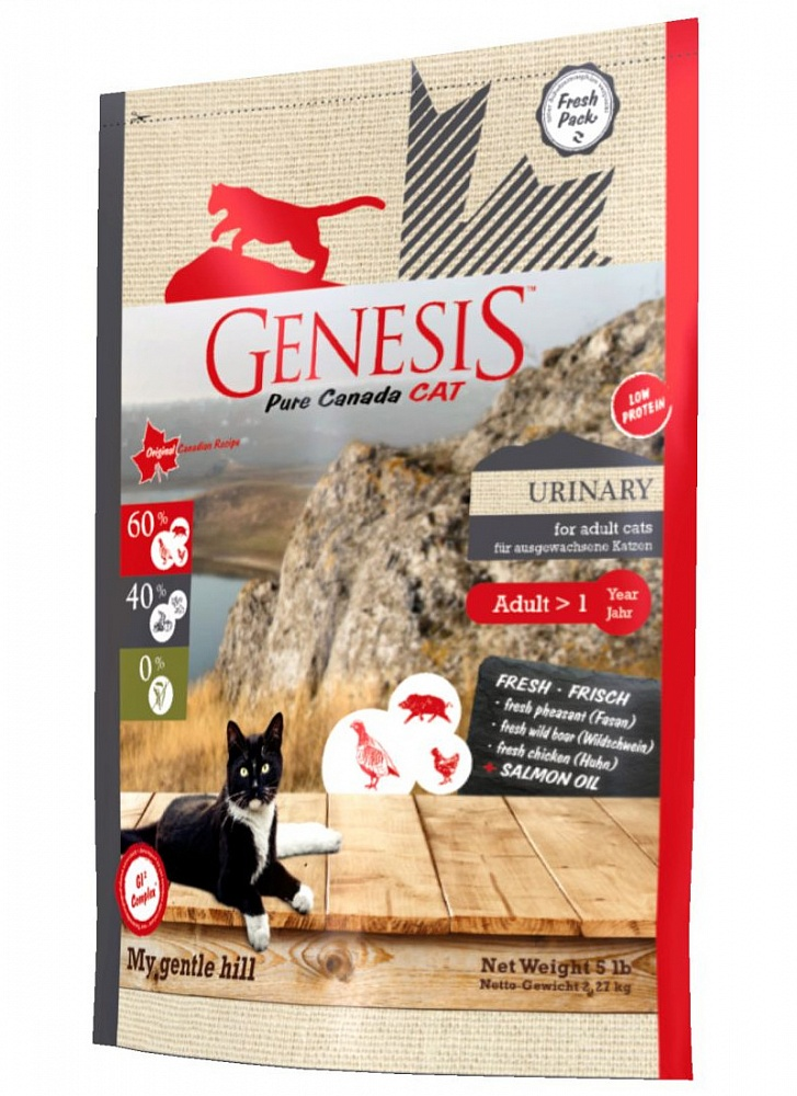 Генезис Корм Pure Canada My Gentle Hill (Мой Нежный Холм) для кошек, профилактика МКБ, Кабан/Фазан/Курица, в ассортименте, Genesis