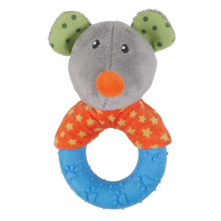 Роузвуд Игрушка для собак Мышка с кольцом (Mischief Mouse) 13*8*7 см, резина/полиэстер, Rosewood