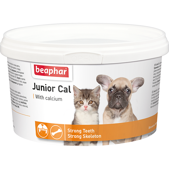 Беафар Кормовая добавка Junior Cal для котят и щенков, 200 г, Beaphar