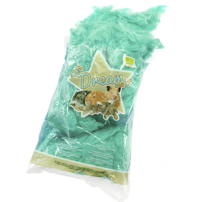 Эби Ватный наполнитель для гнезд грызунов Dream Nest, зеленый, в ассортименте, Europet Bernina International