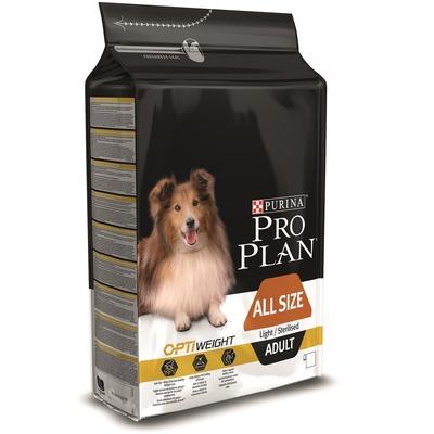 Корм Про План Adult Light/Sterilised All Size с комплексом OPTIWEIGHT для склонных к избыточному весу и/или стерилизованных собак всех пород, Курица, в ассортименте, Pro Plan
