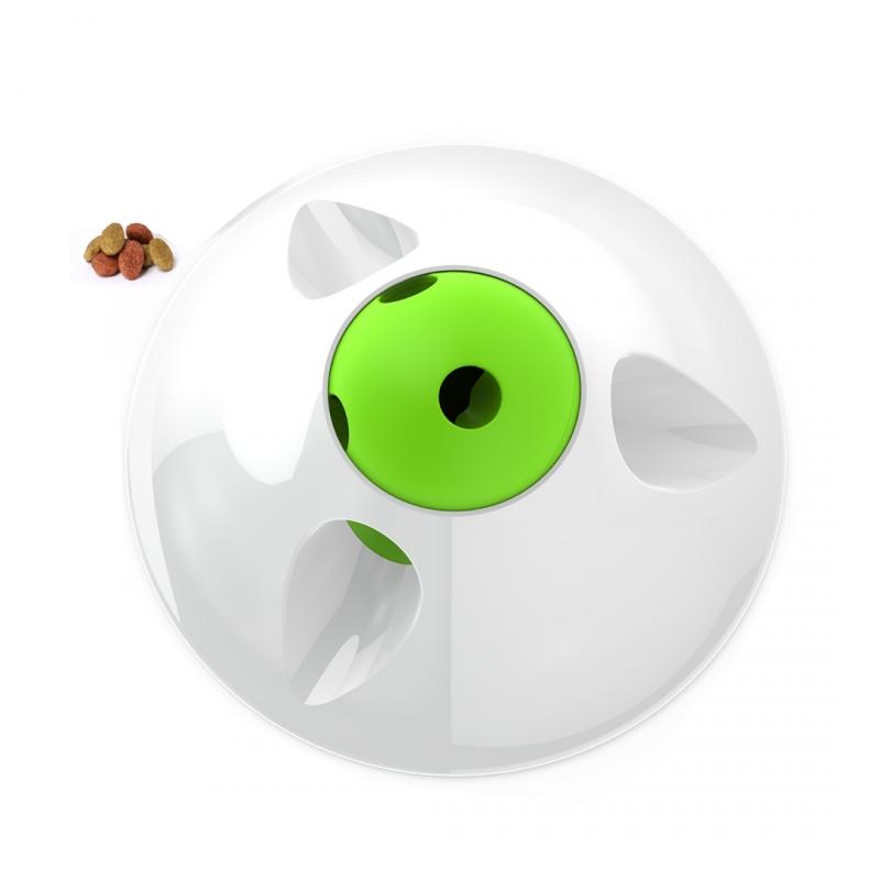 Дуво+ Интерактивная игрушка-кормушка Snack Puzzle без батареек для кошек и собак, 25 см, DUVO+
