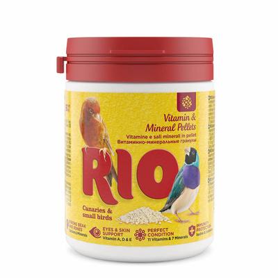 РИО витаминно-минеральные гранулы для канареек, экзотов и других мелких птиц, 120 г, RIO