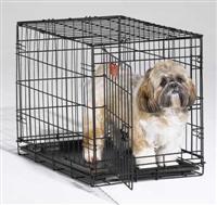 Доглэнд Клетка однодверная с пластиковым поддоном, для собак и кошек, в ассортименте, эмаль, Dog Land
