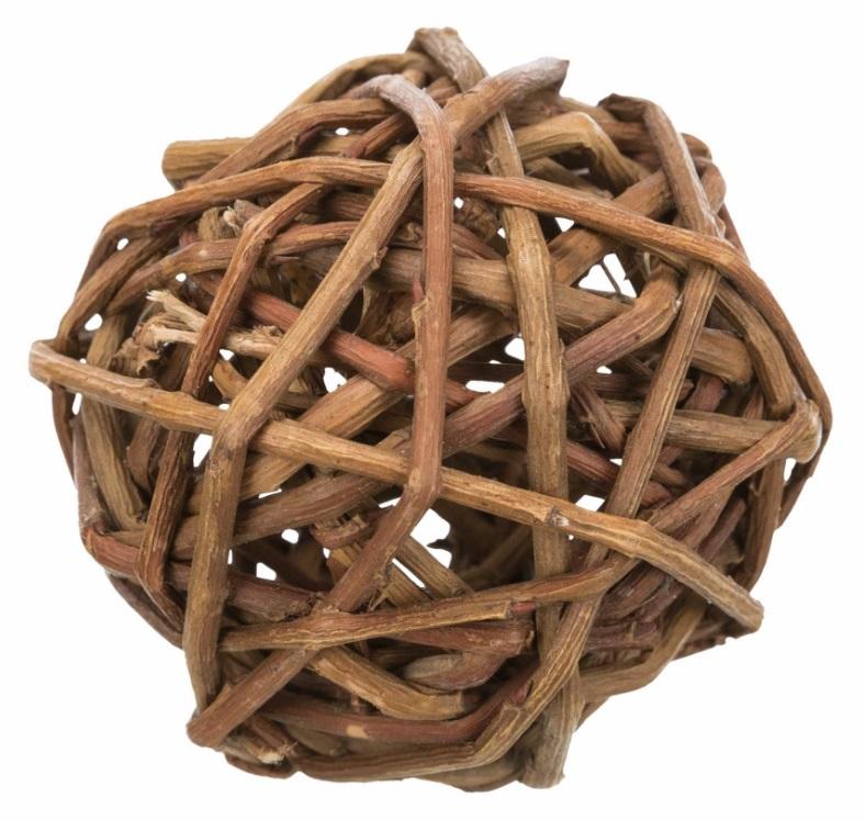 Трикси Игрушка для грызунов Мячик из плетеного дерева, в ассортименте, Trixie