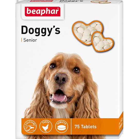 Беафар Кормовая добавка Doggy's Senior для собак старше 7 лет, 75 таб, Beaphar
