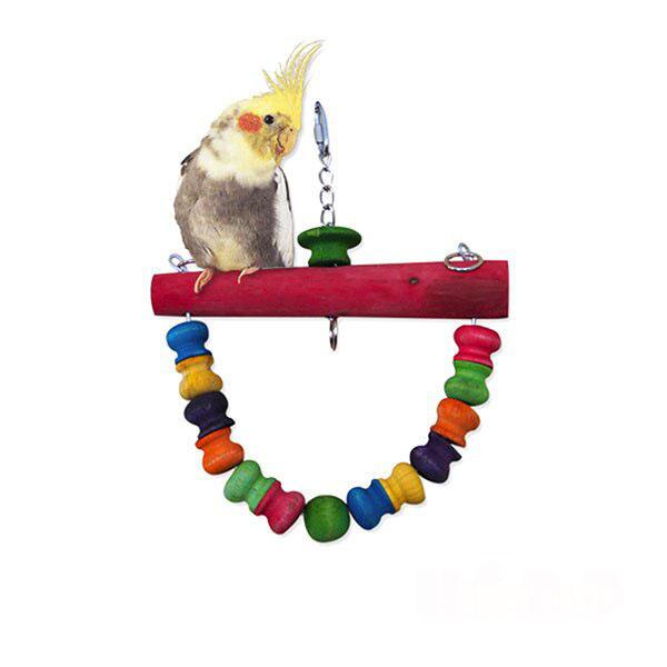 Хеппи Берд Качели для средних и мелких птиц Ронг Вэй, 22*3,5*20 см, в ассортименте, Happy Bird