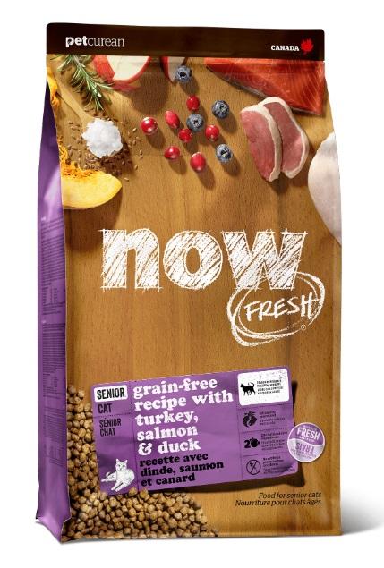 Корм Нау беззерновой Контроль веса для кошек старше 7 лет Fresh Grain Free Senior Cat Recipe Индейка/Утка/Овощи, в ассортименте, Now