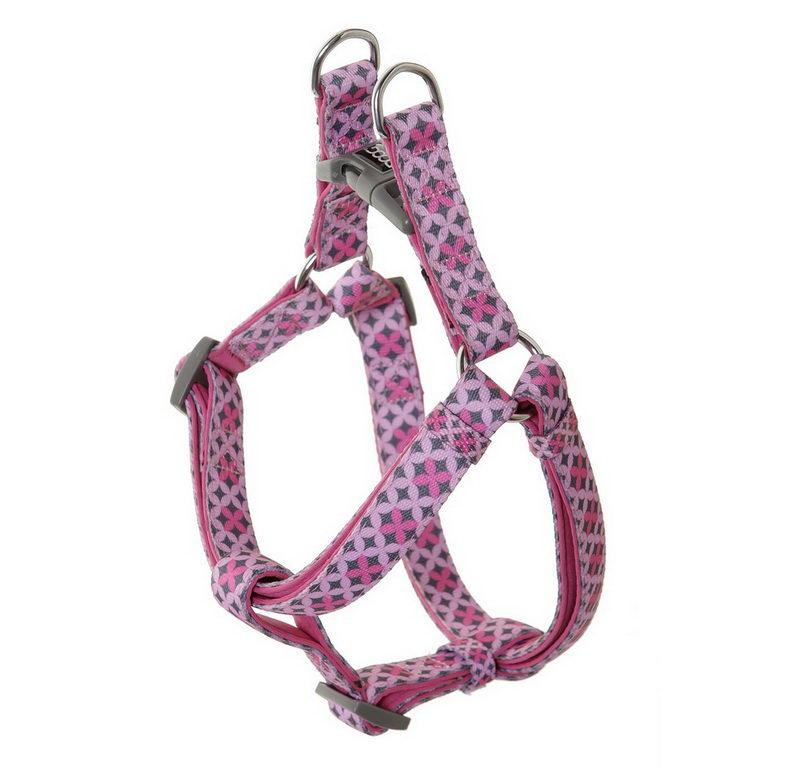 Дуг Шлейка Toto для собак, нейлон/неопрен, в ассортименте, розовая с узором, Doog