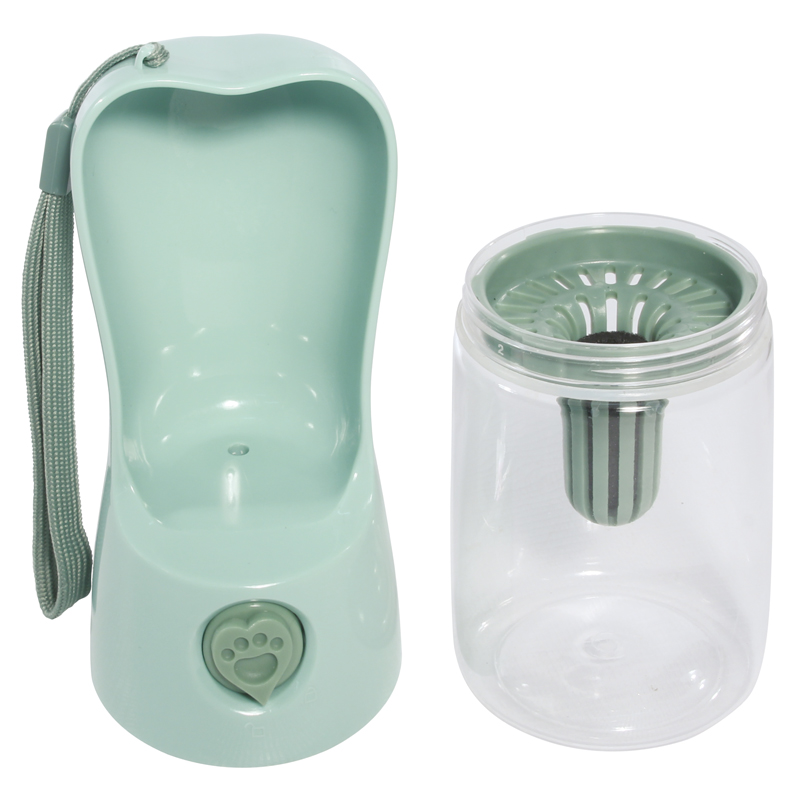 Триол Походная поилка-бутылка Travel с кнопкой и угольным фильтром, 250 мл, 23*6,5 см, Triol