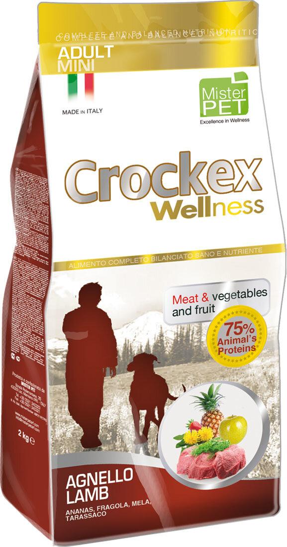 Крокекс Корм Agnello Lamb для собак мелких пород, Ягненок/Рис, в ассортименте, Crockex Wellness