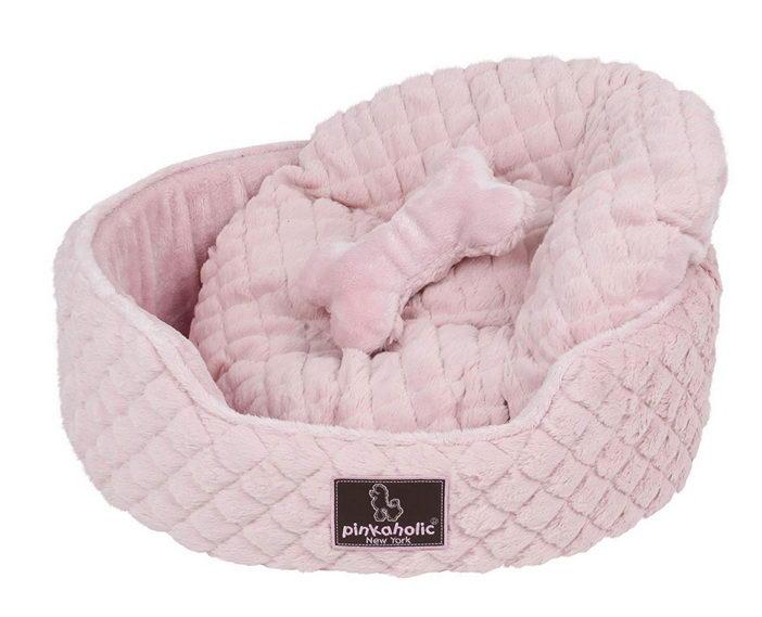 Пинкахолик Лежак-софа с косточкой Arctic Bed для собак и кошек, 50*46*16 см, в ассортименте, Pinkaholic