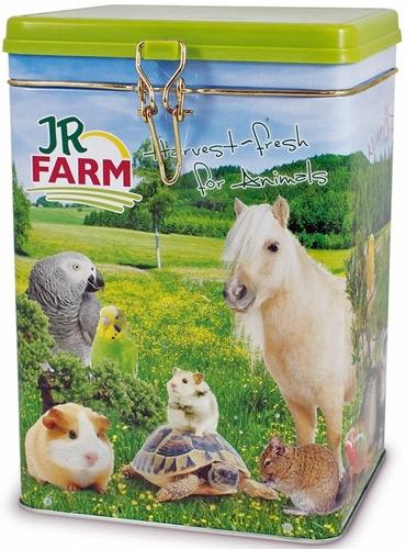 JR Farm Металлическая банка (емкость) для корма, 21*15*15 см