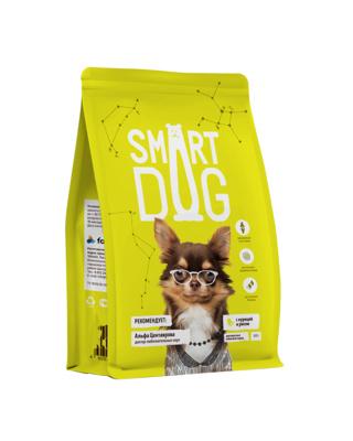 Смарт Дог Корм для собак всех пород, Курица/Рис,  в ассортименте, Smart Dog