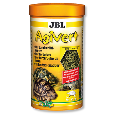 JBL Основной корм Agivert для сухопутных черепах размером 10-50 см, в ассортименте