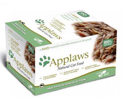 Эплауз Набор консервов для кошек Рыбное ассорти Cat Fish Selection MP 8*60 г Applaws
