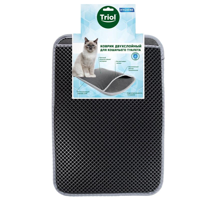 Триол Коврик-ловушка для кошачьего туалета Сито темно-серый, в ассортименте, Triol