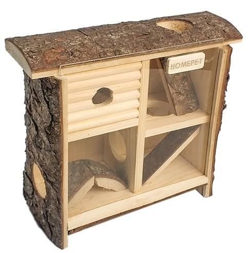 Хомепет Игровой комплекс Лабиринт с акриловым стеклом для мелких грызунов,  24*25*10 см, Homepet