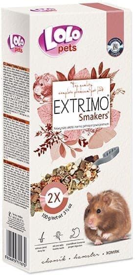ЛолоПетс Палочки (крекеры) Smakers EXTRIMO для хомяков экструдированные 2*50 г, Lolo Pets