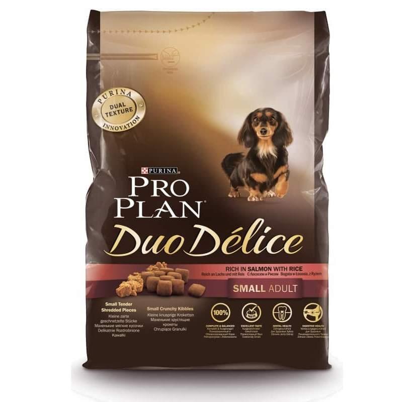 Корм Про План Duo Delice Adult Small для собак мелких и карликовых пород Лосось/Рис, в ассортименте, Pro Plan