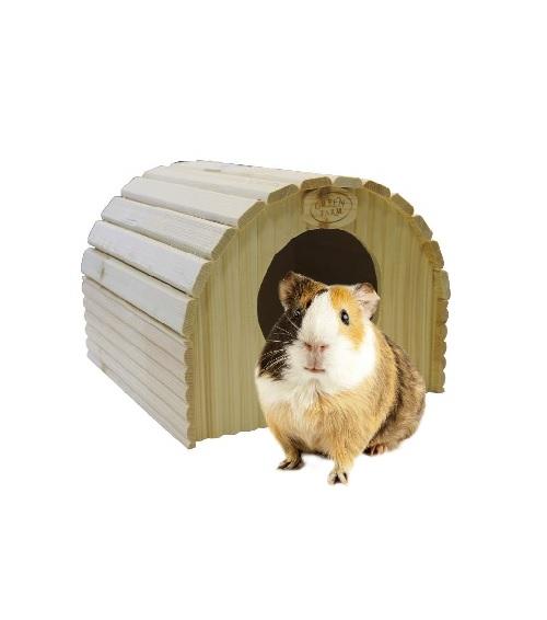 Грин Фарм Дом-ангар для средних и крупных грызунов, дерево, 28*26,5*20 см, Green Farm