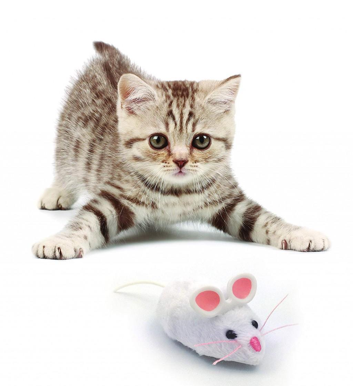 Хексбаг Игрушка для кошек Мышь-Микроробот на батарейках, 6,5*3,5 см, в ассортименте, Hexbug
