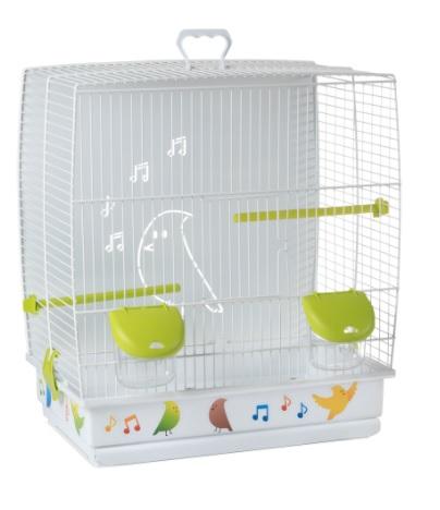 Вольтрега Клетка с глухой задней стенкой для мелких птиц, 39*25,5*45 см, наклейки в комплекте, Voltrega
