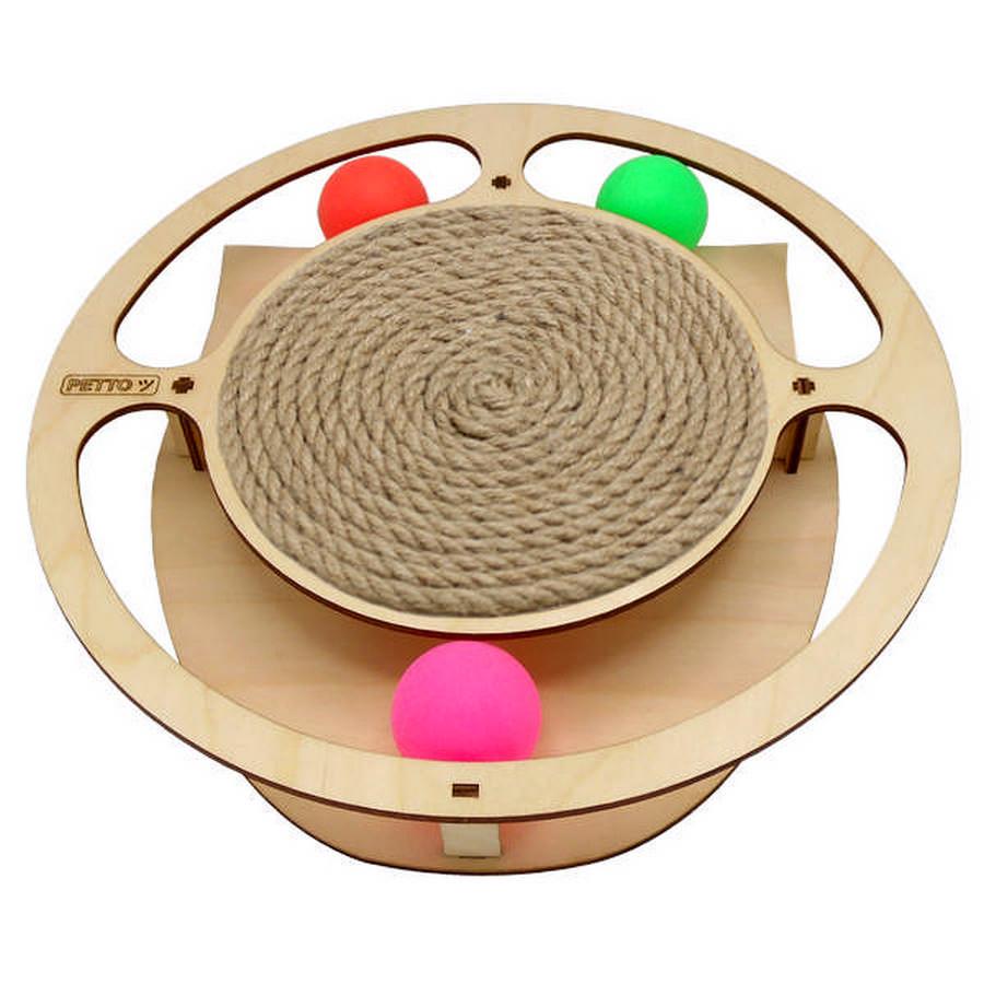 Петто Игровой комплекс для кошек Круг с шариками 32/28*3,6 см, в ассортименте, Petto