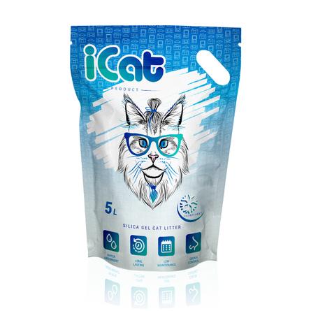 Айкет Наполнитель cиликагелевый для кошачьего туалета, 5 л, в ассортименте, iCat