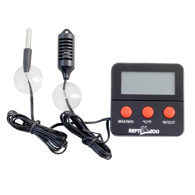 РептиЗоо Термогигрометр электронный с двумя датчиками SH124, ReptiZoo