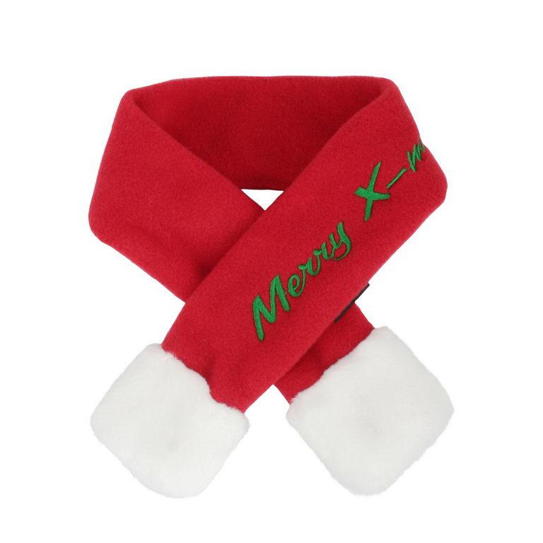 Паппи Шарфик новогодний Santa для собак и кошек, в ассортименте, красный, PUPPIA