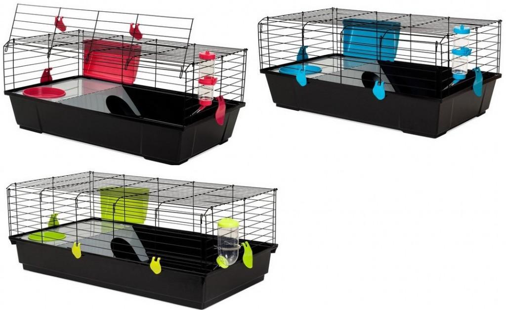 Вольтрега Клетка Nera53 для кроликов и морских свинок черная, в ассортименте, Voltrega