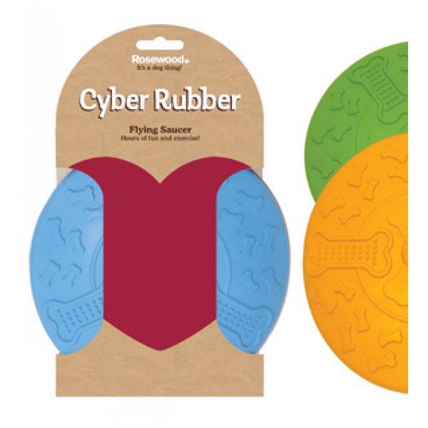 Роузвуд Игрушка для собак Сyber Rubber Летающая тарелка 22 см в ассортименте, резина, Rosewood