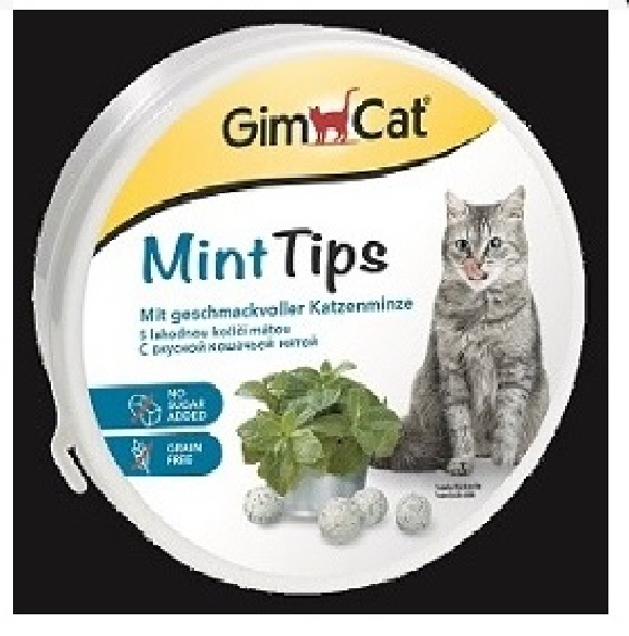 Джимкэт Витаминизированное лакомство Mint Tips (Минт Типс) для кошек, 200 г, GimCat