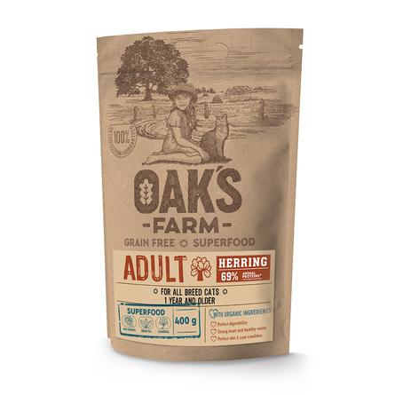 Оакс Фарм Корм беззерновой GF Herring Adult Cat для взрослых кошек, Сельдь, в ассортименте, Oaks Farm