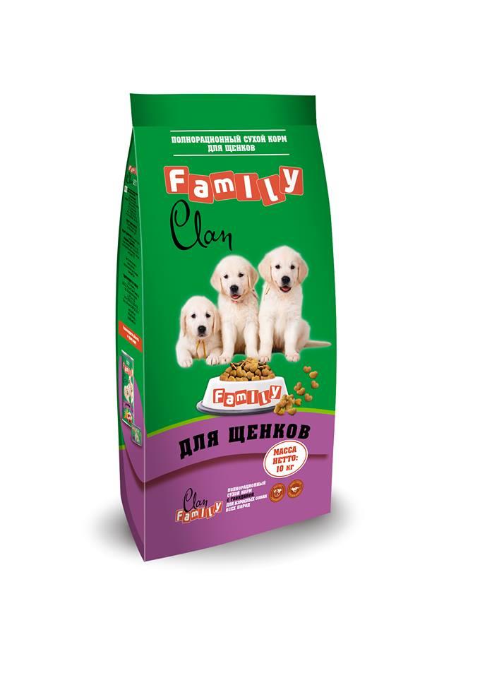 Клан Корм Clan Family для щенков Курица, 10 кг, Clan