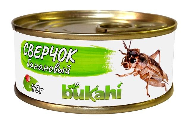 Букахи Консервы Сверчок банановый консервированный BU-192007 для насекомоядных, 40 г, Bukahi
